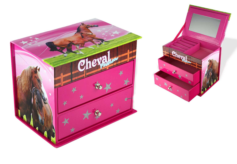 Boîte à Bijoux Cheval 2 Tiroirs