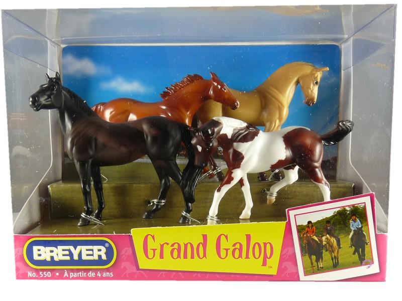 Grand galop 4 chevaux assortis 1 32 paradis du cheval - Grand galop le cheval volant ...