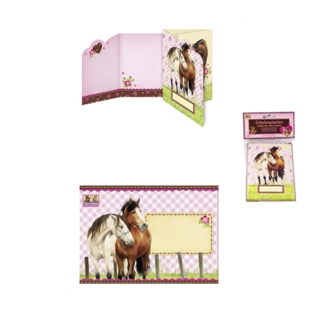 Cartes d'invitation chevaux
