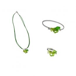 Parure Bijoux Cheval Vert
