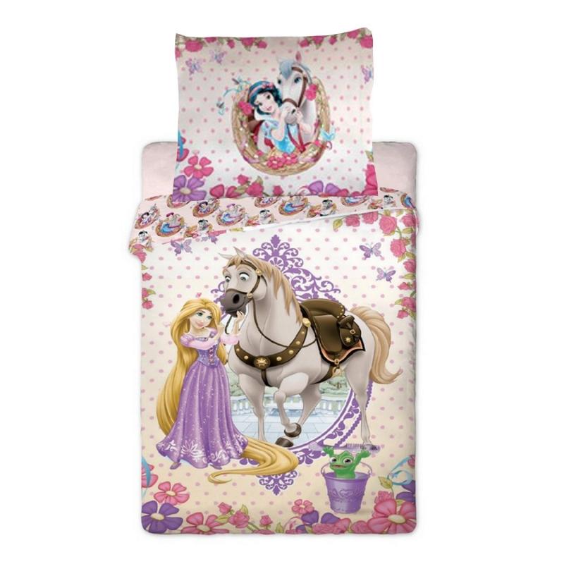 Housse de couette princesse raiponce et son cheval - Housse de couette princesse ...
