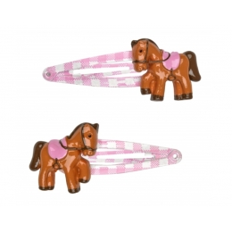 Barrettes Poney