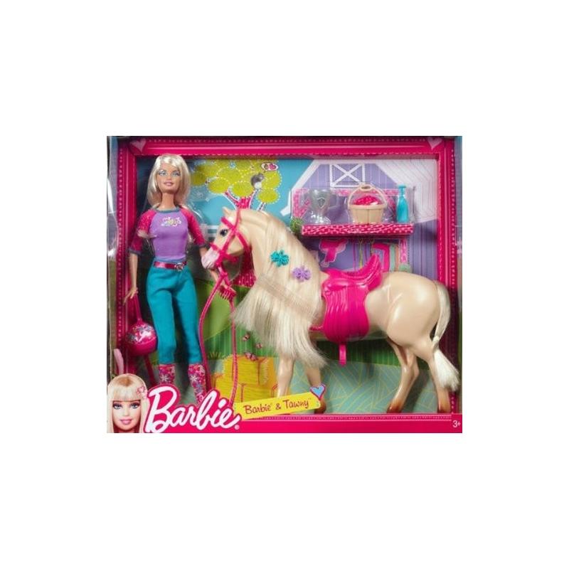 Barbie et son cheval tawny - Barbie chevaux ...