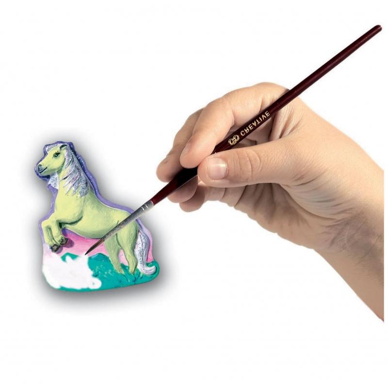 Set de peinture et moulage chevaux avec paillettes for Peinture avec paillette
