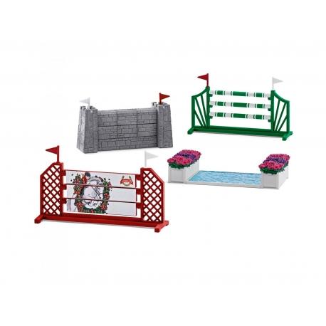 parcours de saut d 39 obstacles schleich. Black Bedroom Furniture Sets. Home Design Ideas