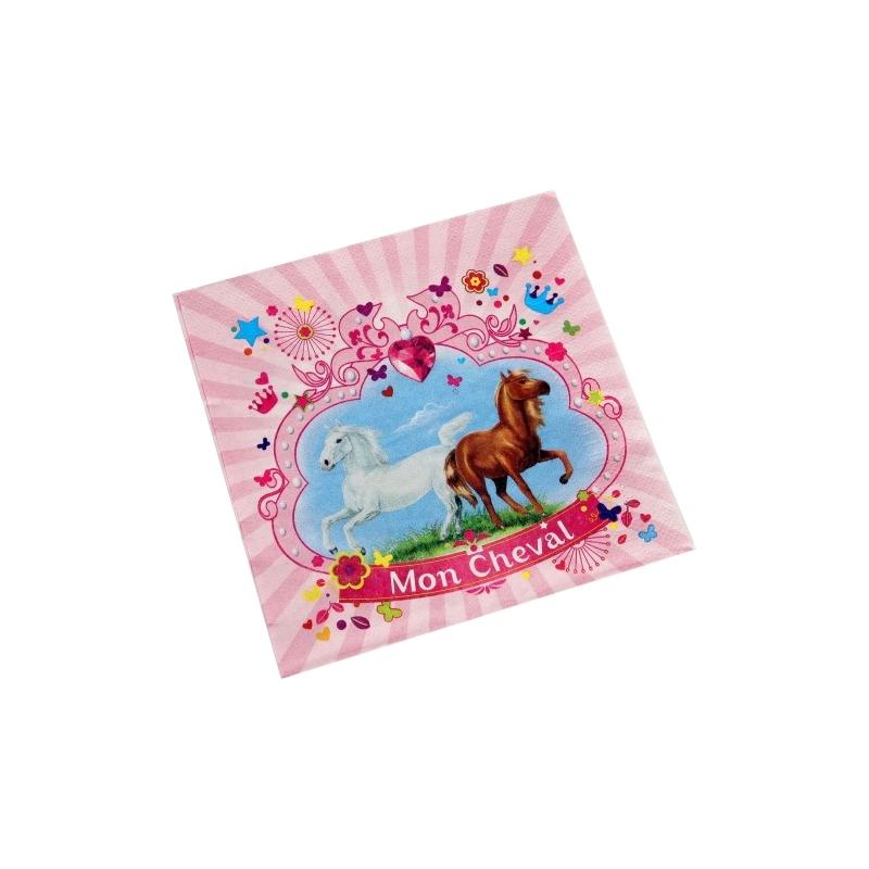 serviette anniversaire cheval