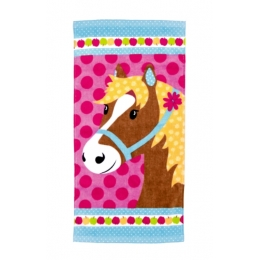 Serviette de toilette cheval Poney Club