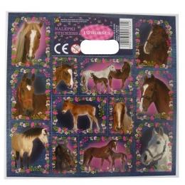 Planche De 12 Stickers Autocollants I Love Horse
