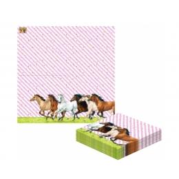 Serviettes en papier chevaux