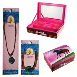 Set Boîte à Bijoux Cheval + Collier Et Bracelet