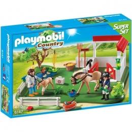 Playmobil: Set Paddock Avec Chevaux