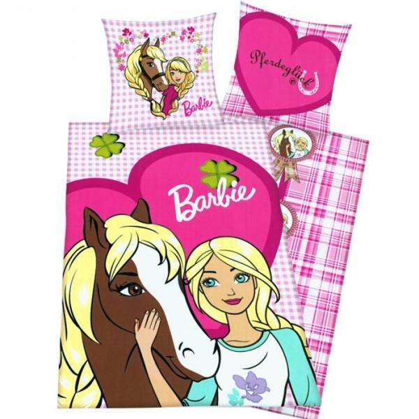 parure de couette barbie et son cheval. Black Bedroom Furniture Sets. Home Design Ideas