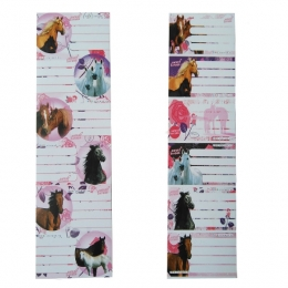 Etiquettes Scolaires Cheval Sweet Horses Rose