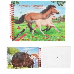 Horses Dreams: Album De Coloriage 3D Cheval