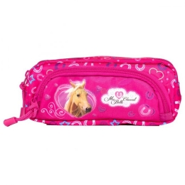 Trousse Cheval Rose 2 Compartiments