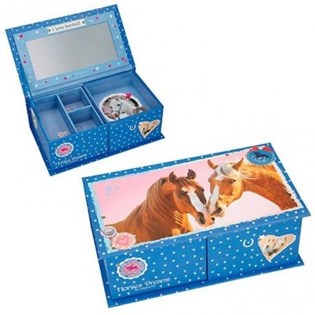 Boîte à Bijoux Calin De Chevaux Horses Dreams