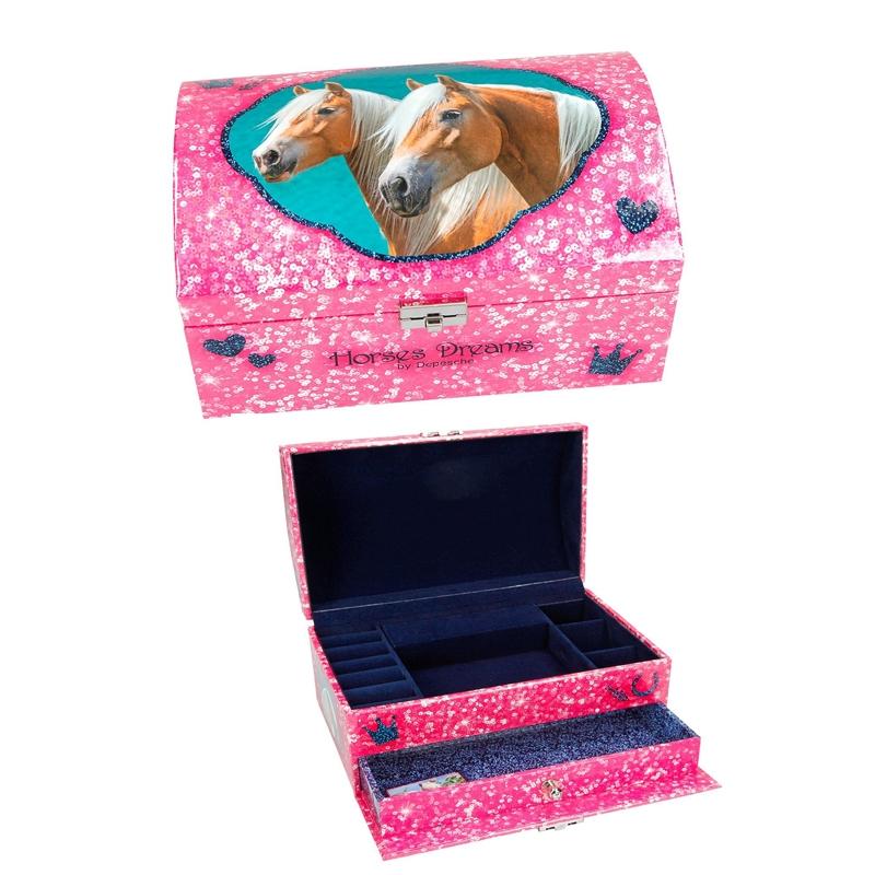 Boîte à Bijoux Cheval Rose Horses Dreams