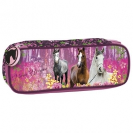 Trousse Cheval Rose I Love Horses