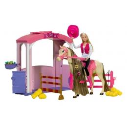 Poupée Steffi Love avec son cheval et son écurie