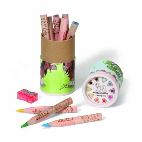Nici: Boîte De Crayons De couleur Cheval Avec Taille Crayon