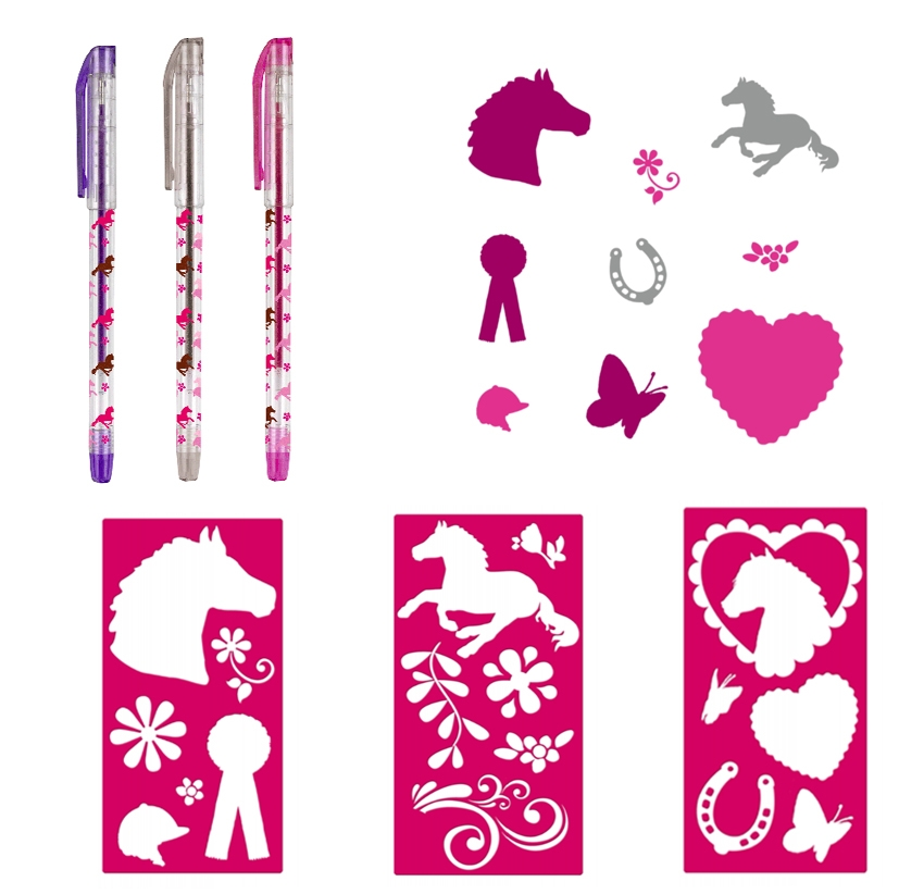 Kit Stylos Création Tattoos Cheval