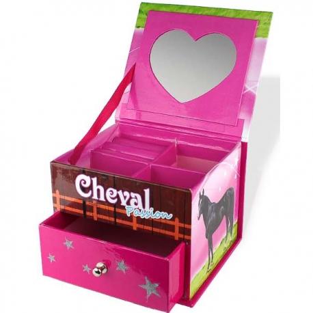 Boîte à Bijoux Cheval 1 Tiroir