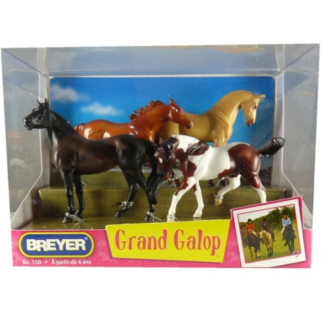 Grand Galop 4 Chevaux Assortis 1/32