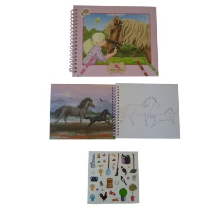 Horses Dreams: Album De Coloriage + Stickers Cheval