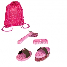 Set De Pansage Cheval Rose + Sac