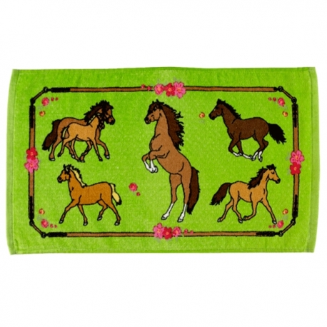 Serviette de toilette cheval