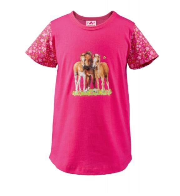 Tee Shirt Rose Trio De Poulains