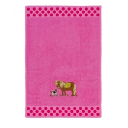 Serviette de Toilette Rose Poney
