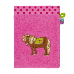 Gant de Toilette Rose Poney
