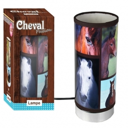 Lampe Tube Cheval Marron