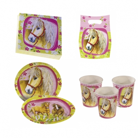 Set Anniversaire Charmant Cheval