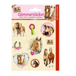Stickers Autocollants Cheval Scintillants