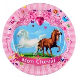 Assiettes Anniversaire Mon Cheval