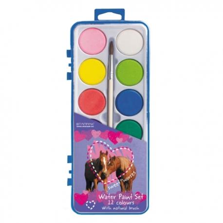 Boîte De Peinture Cheval 12 couleurs
