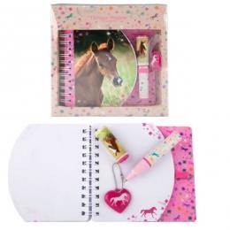 Coffret Horses Dreams: Carnet Poulain + Stylo