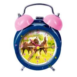 Réveil décoré de chevaux