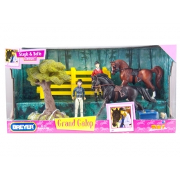 Coffret Grand Galop Steph et Belle 1/32