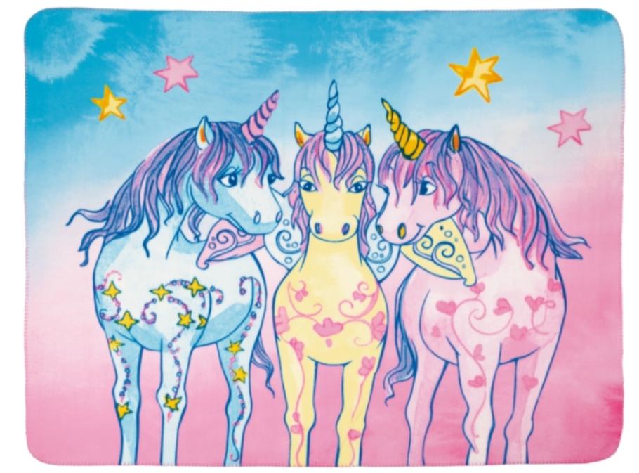 Couverture Polaire Trio De Licornes