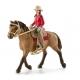 Cavalière Western Schleich Et Son Cheval