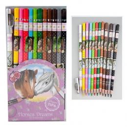 Horses Dreams: Crayons De Couleurs Cheval + Taille crayon