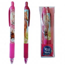Duo De Stylo Bille Rose Cheval Miss Mélody