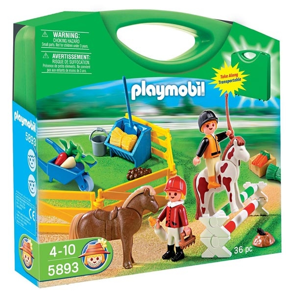 Valisette Playmobil Country Cavaliers Et Poneys