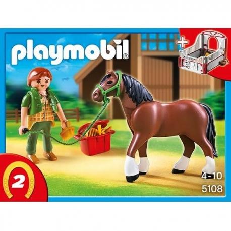 Playmobil - Cheval et Palefrenière