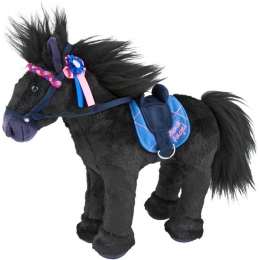 Peluche Cheval Black Angel Miss Mélody