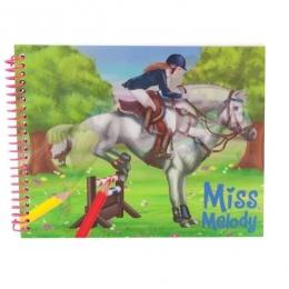Album De Coloriages Cheval + Stickers Miss Mélody