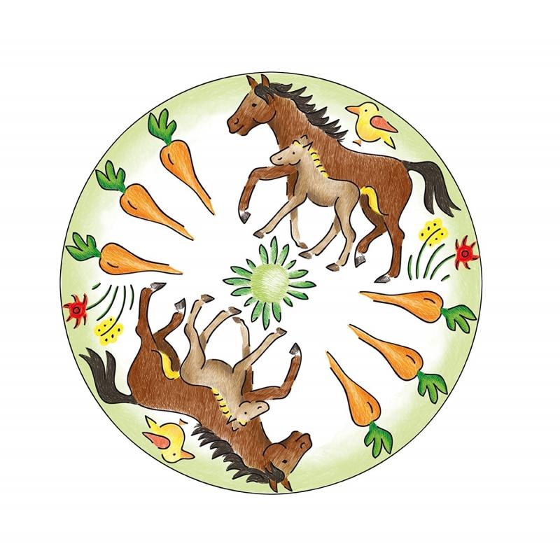 Mandala designer horses - Mandala de chevaux ...